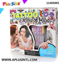 Kids Craft DIY Kind of Mine Tattoo Girl Kits