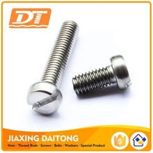 DIN84 Standard Screw Slotted Cheese Head Screws China Fasteners Carbon steel Stainless Steel Plain Black Zinc Plated HDG