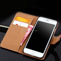Luxury Case Wallet Style Genuine Leather Cover with Card Slots For iPhone 6 6S China Supplier