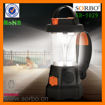 Power Bank led lantern SORBO dynamo Rechargeable Light with AM/FM radio