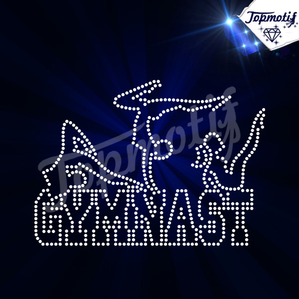 Hot Sell rhinestone flatback gymnastic sport heat transfer design