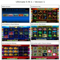 3 different versions Ultimate 5 in 1 slot game board