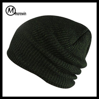 2016 Morewin Green Men Long-Baggy Beanie Oversize Winter Hat Ski Slouchy Skull Cap