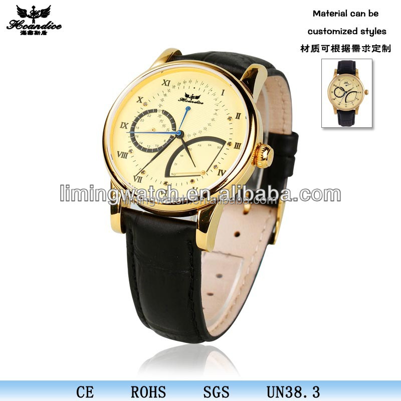 2017 top vogue oem 24k gold watches quartz watch logo custom
