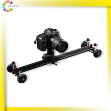 Top Sale Products DSLR Sliders Camera Accessories 4 Wheel Moving Metal Stabilizer Slider Dolly for Video Film Shooting