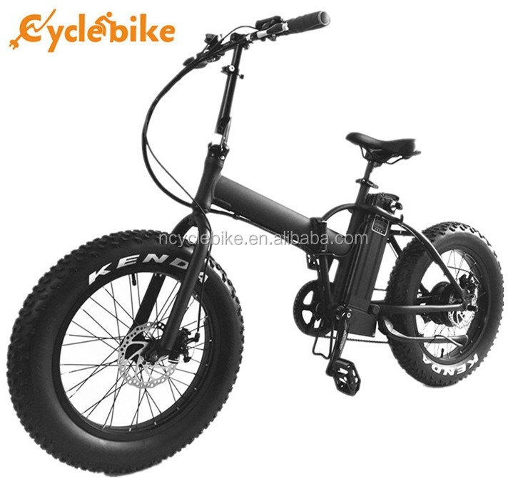 "20"" 48v 500w display pas system fat tire folding electric bike"