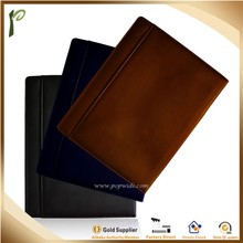 Popwide high quality genuine leather or PU Book cover, leather book cover