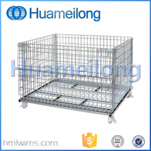 Welded steel wire basket stackable security cage