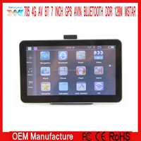 7 GPS NAVIGATION NAVIGATOR CE 6.0 AV-IN BT BLUETOOTH DDR128M 4GB FREE EUROPE MAP