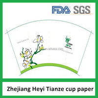 100% Virgin Wood Pulp One Side PE-coated Paper For Cup On Discount