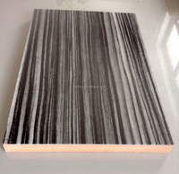 Double side same color ,one side acrylic sheet the backside same color melamine paper wood panel
