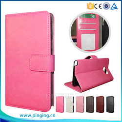 Concise PU Leather Wallet Case For Gionee Pioneer P5L Card Slot Case