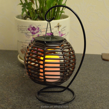 Solar 5-inch Antique Rattan Lantern Party Table Light Garden LampSolar 5-inc
