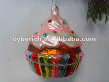 2012 festival glass cakefor gift or ornament