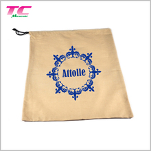 Competitive Price Drawstring Cotton Muslin Bags Reusable Fabric Tea Bags With Customized Print Logo