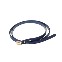 Hot selling high quality cheap skinny fancy blue women pu leather belt