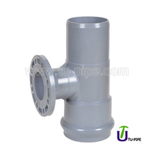 MPVC One faucet And One Flange And One Insert Reducing Tees DIN (With Rubber Ring)