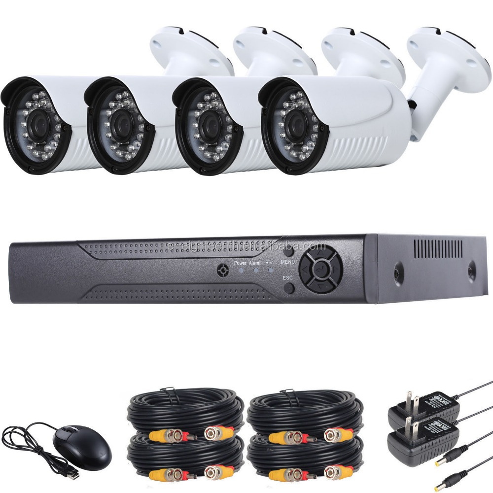 4CH 960P Outdoor Surveillance CCTV AHD Security Wired Bullet Camera DVR Kit