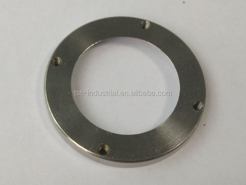 CNC machined P20 steel location ring for injection mold