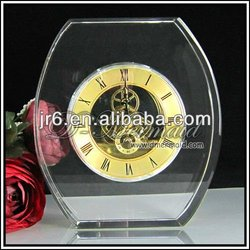 crystal table decorative clock