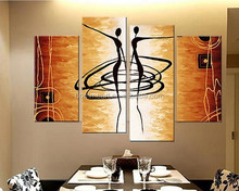 MODERN ABSTRACT OIL PAINTING CANVAS ART Abstract Figures Golden FOR HOME Decoration Oil Painting