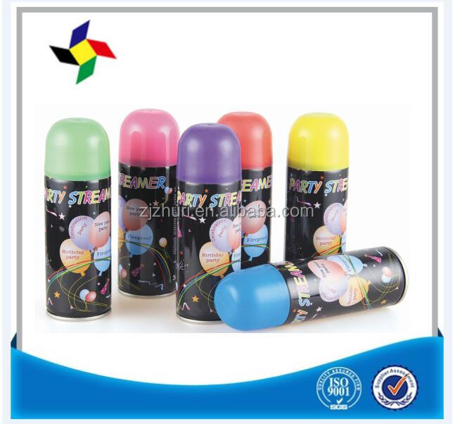 High quality 250ml colorful party ribbon spray ST210