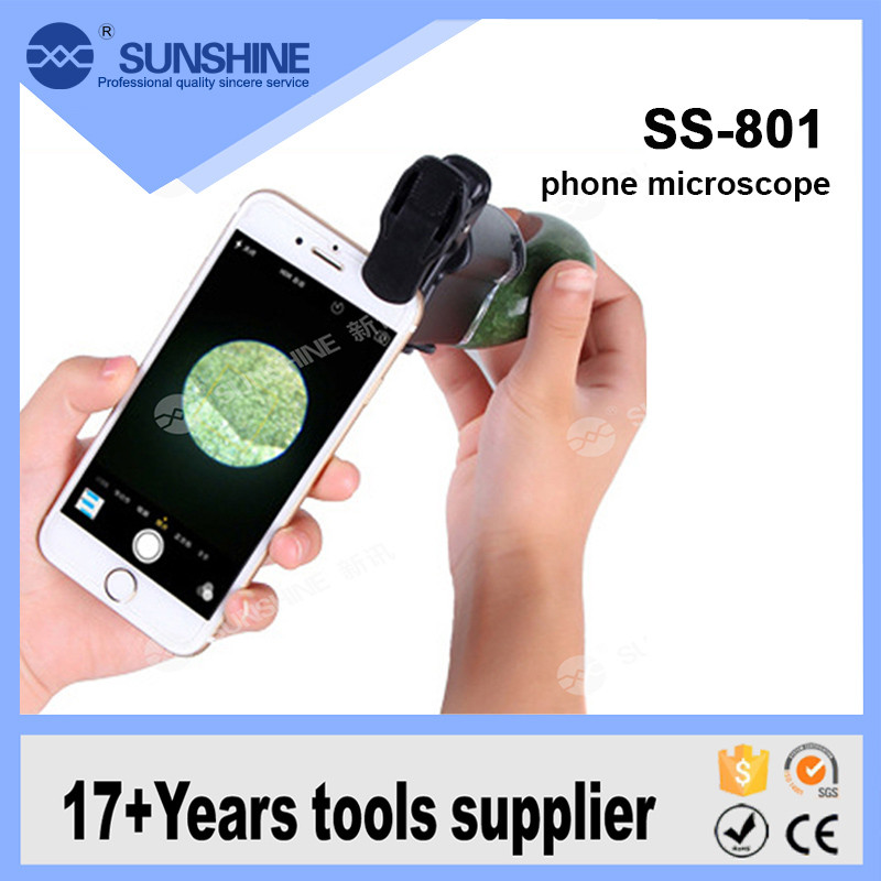 Hot Sale LED Illuminated Smartphone Stereo Pocket Microscope 60X-100x