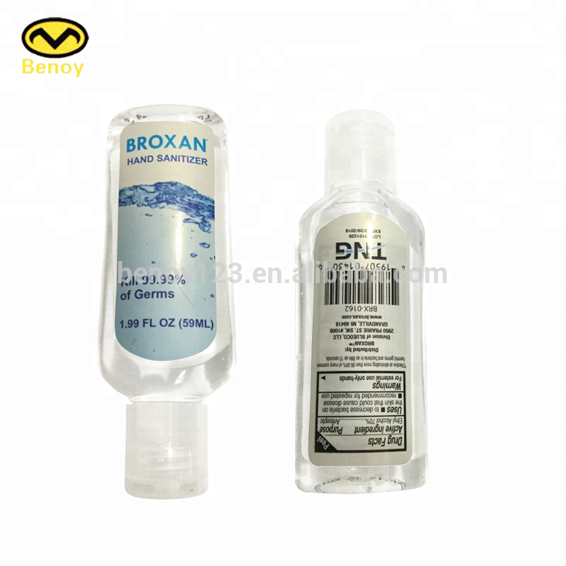 60ml/2oz Hand Sanitizer Clear Plastic Pet Bottle With Cute Holder ...