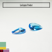 synthetic blue spinel gems/ pear cut 8x10mm spinel