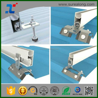 Fabrication Custom Flexible Solar Panel Middle End Clamp Rail and Hooks for metal roofing sheet