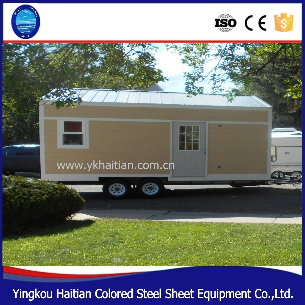Casa sobre ruedas rbol casa movible de madera peque as casas prefabricadas verde casa m vil - Casas prefabricadas con ruedas ...