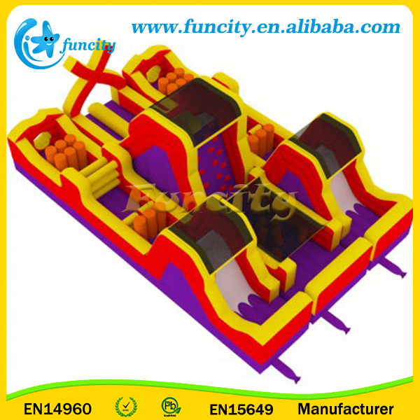 Outdoor inflatable bouncy playground/kids jumping obstacle course/fun city inflatable playground for sale