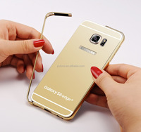 Luxury 24K Gold Color Mirror electroplating phone case cover for samsung galaxy s6 edge