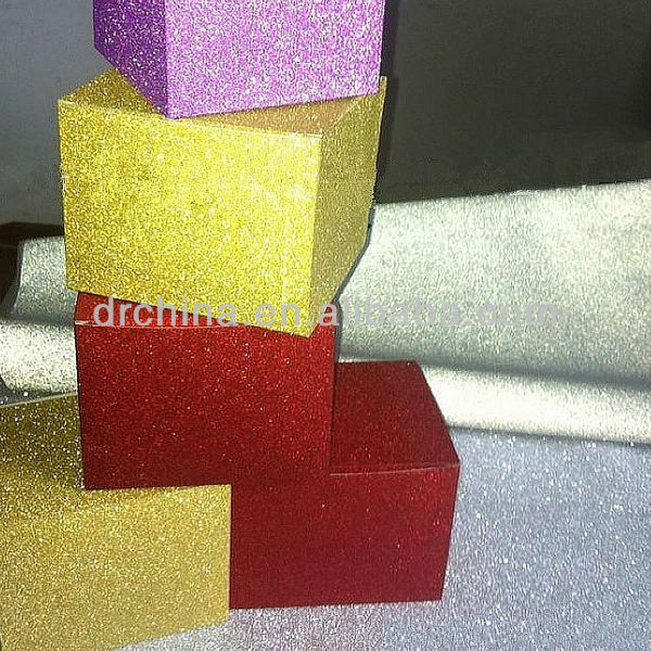 "12*12"" Colorful Self Adhesive Glitter Paper for Making Christmas Cards"