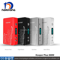 Hot new products for 2015 black white,silver,red smok koopor plus 200w box mod fit for smok tfv4 tank