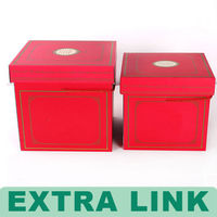 Luxury lucky red Candy Cookie Chocolate food use Paper Packaging wedding Display Boxes