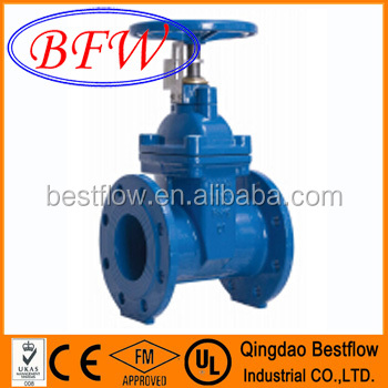 BS5163 Type B PN10/PN16 Non-rising Stem Resilient Seated Gate Valve with Stem Cap