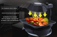 3D Korean Infrared Heating Indoor Smokeless Bbq And Electric Desk Oven
