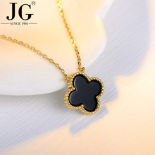 Latest gold necklace set designs with cheap price, Four Leaf Clover Chain necklace with silver/gold/ rose gold plated for choice