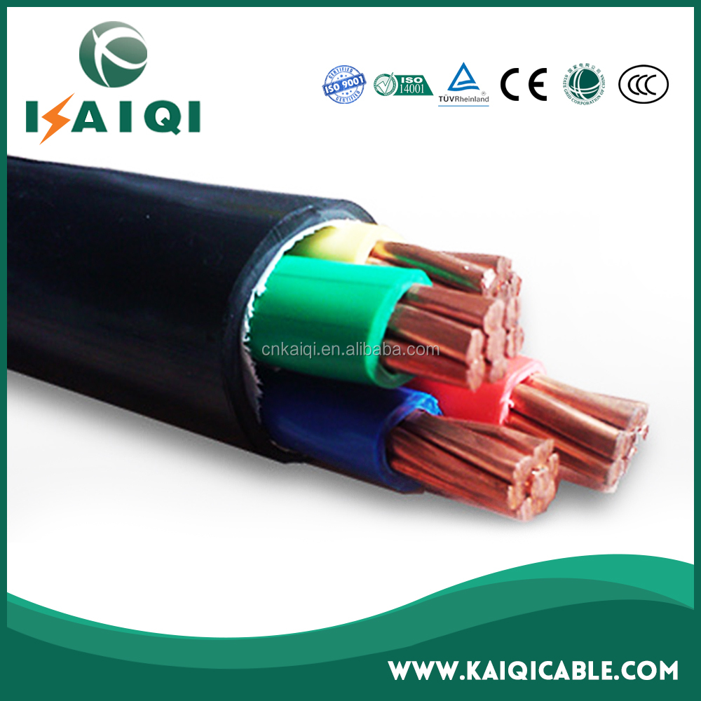 0.6/1kV low voltage single core or muti cores PVC insulated PVC jacket 95mm copper cable