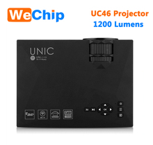 JoinWe UNIC UC46 Projector Pico LED Home Cinema Projector Support USB SD AV HDMI Full HD 3D Multimedia Projector