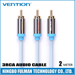 Vention Polybag packing Gold Plated Blue high grade audio & video cable