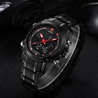 2016 NAVIFORCE Brand Men Sports Digital Wrist Watches Waterproof Japanese Movt