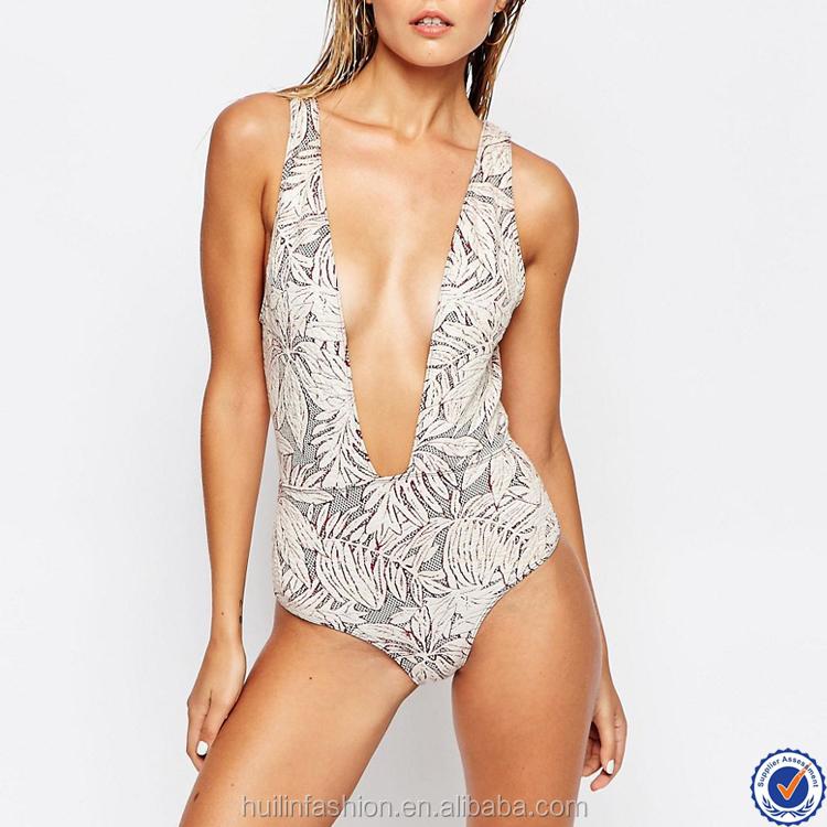 Design Your Own Bikini Swimwear Open Back Deep Plunge Neck ...
