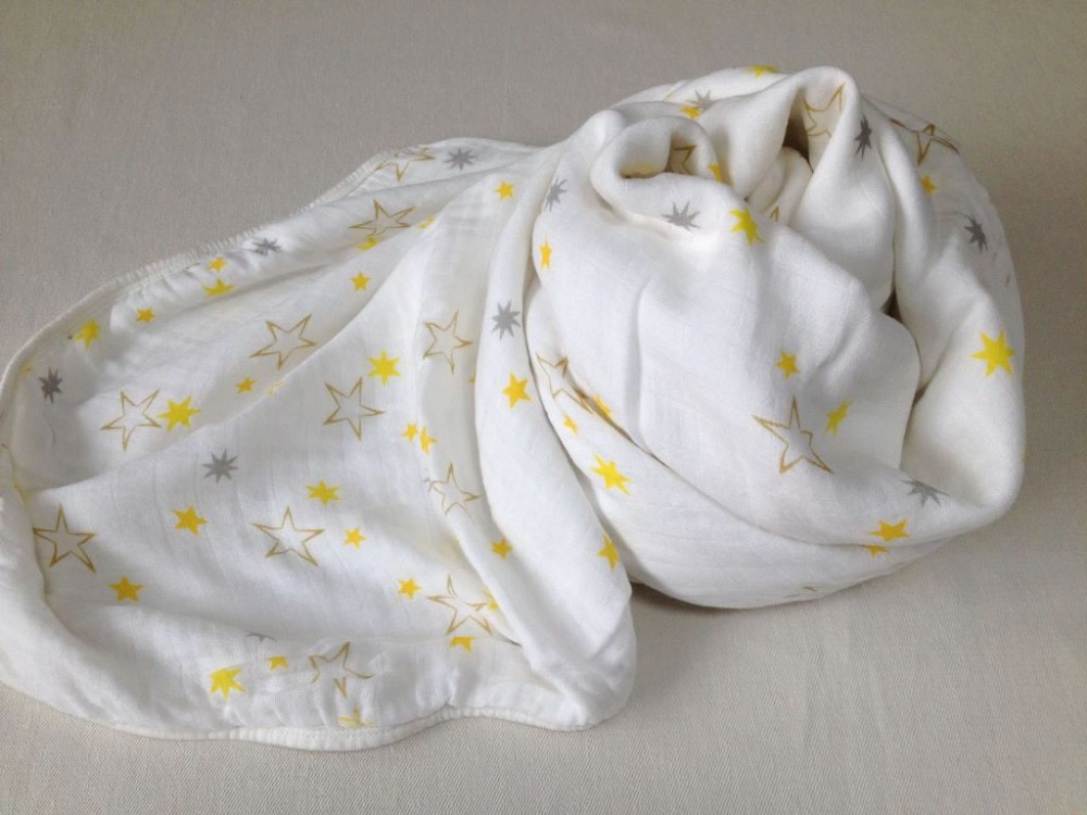 high qulity super soft made in china liahren baby Bamboo muslin swaddle of 6 layers