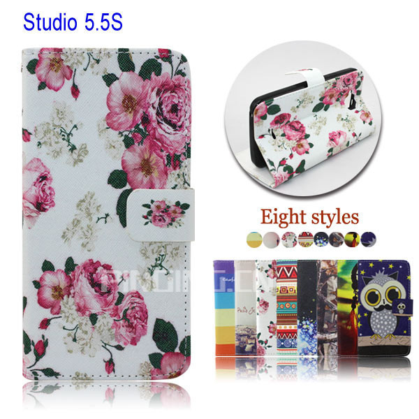 for blu studio 5.5 s d630u case, pu leather card solt stand cover phone case for blu studio 5.5 s d630u