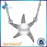 modern latest designs starfish pendant pearl necklace
