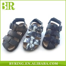 Boys close toe shoes kids sandals china wholesale cork sandals