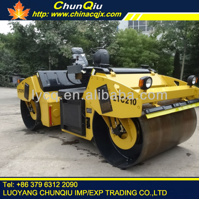 YTO 10 ton model LTC210 double steel drum road roller for sale with cummins engine