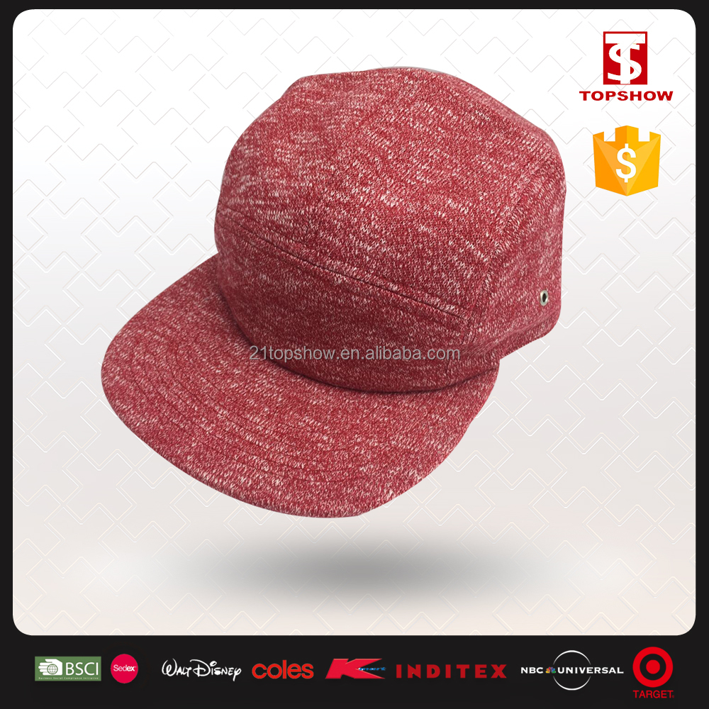 Topshow ODM Red Acrylic Snapback Knitted Winter Hat